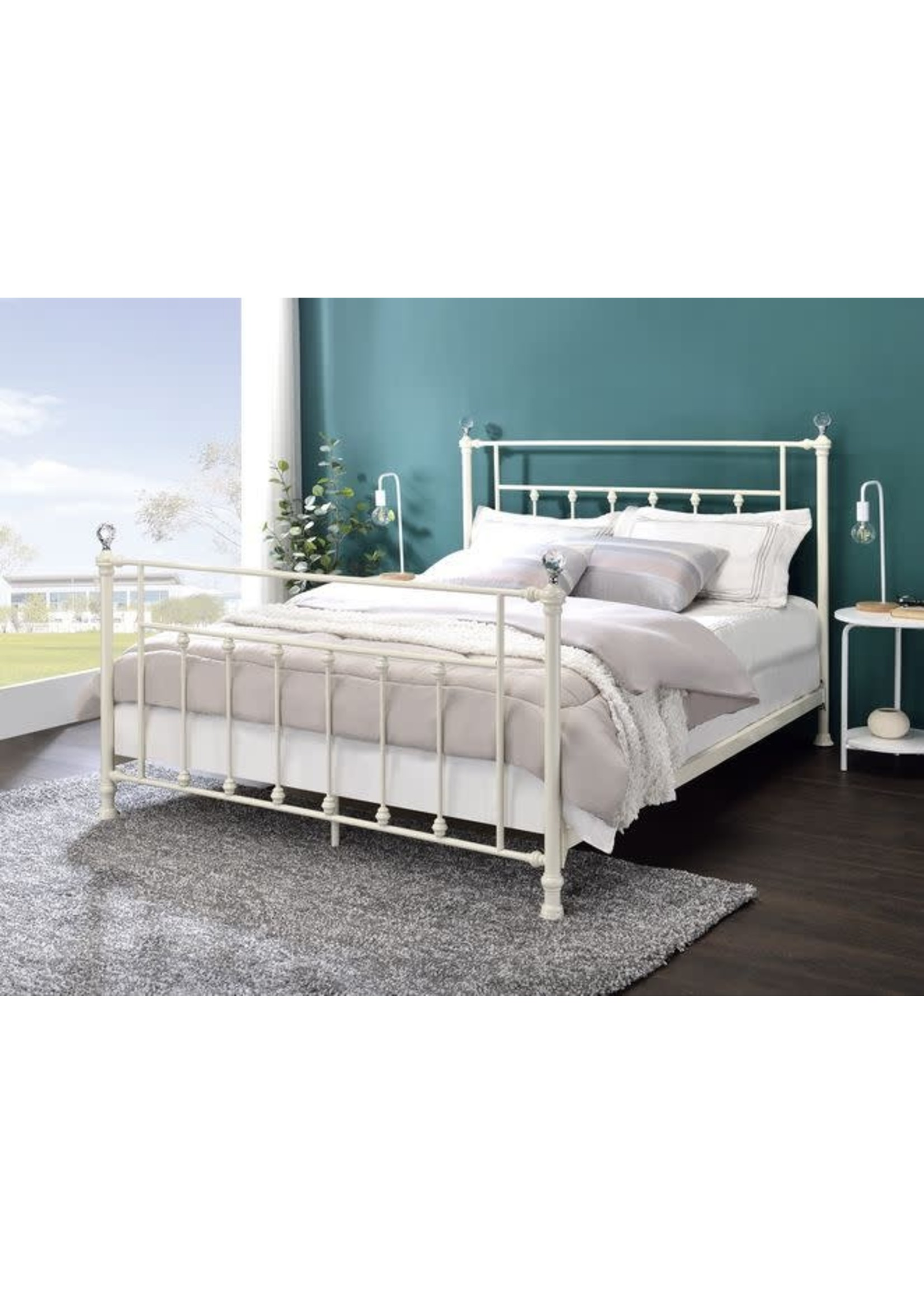 ACME BD00134Q QUEEN BED COMET WHITE FINISH