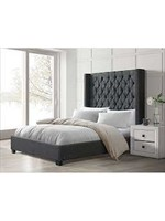 ELEMENTS MORROW KING UPHOLSTERED BED HEIRLOOM GREY