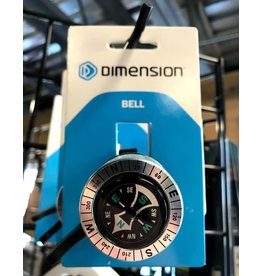 Dimension Dimension Compass Bell: Silver/Black