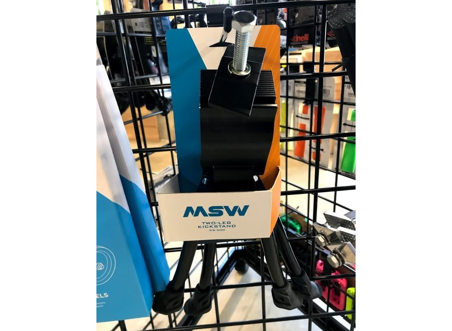 MSW KS-300 Two-Leg Kickstand with Top Plate, Black