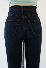 Vibrant Dark Bell Bottom Jeans