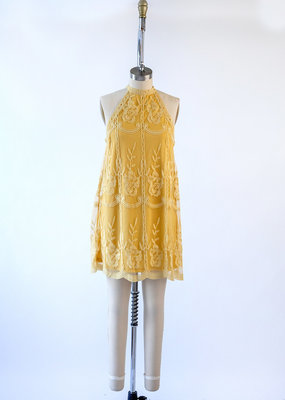 Wild Honey Lace Halter Dress