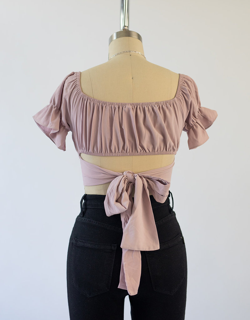 Hey Babe Ruffle Off Shoulder Top