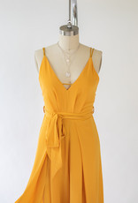 Luxxel Mustard Strappy Jumpsuit