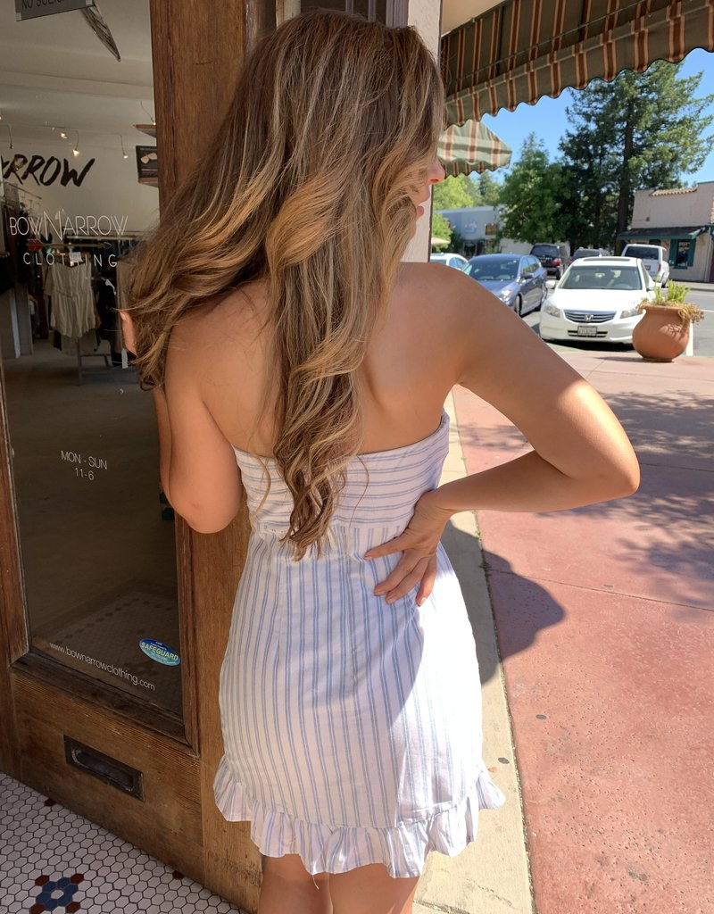 Cotton Candy Stripe Strapless Dress