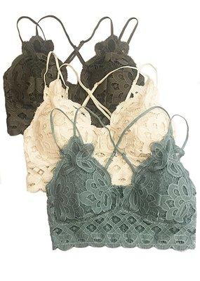 anemone Crochet Floral Bralette