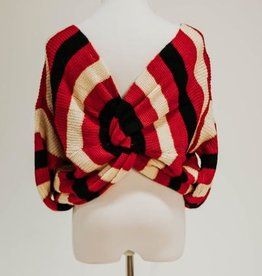Desire Stripe Knot Sweater
