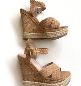Shoe Republica Nude Braided Wedge