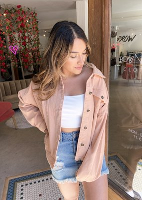 Levee Peach Denim Jacket