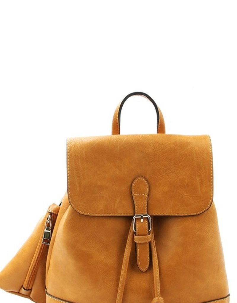 Le Meil 2in1 Faux Leather Backpack