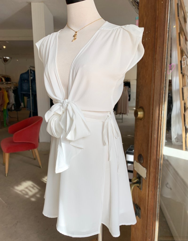 Bow N Arrow White Knot Dress