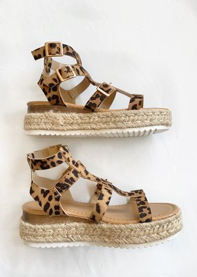 Bow N Arrow Cheetah Gladiator Espadrille