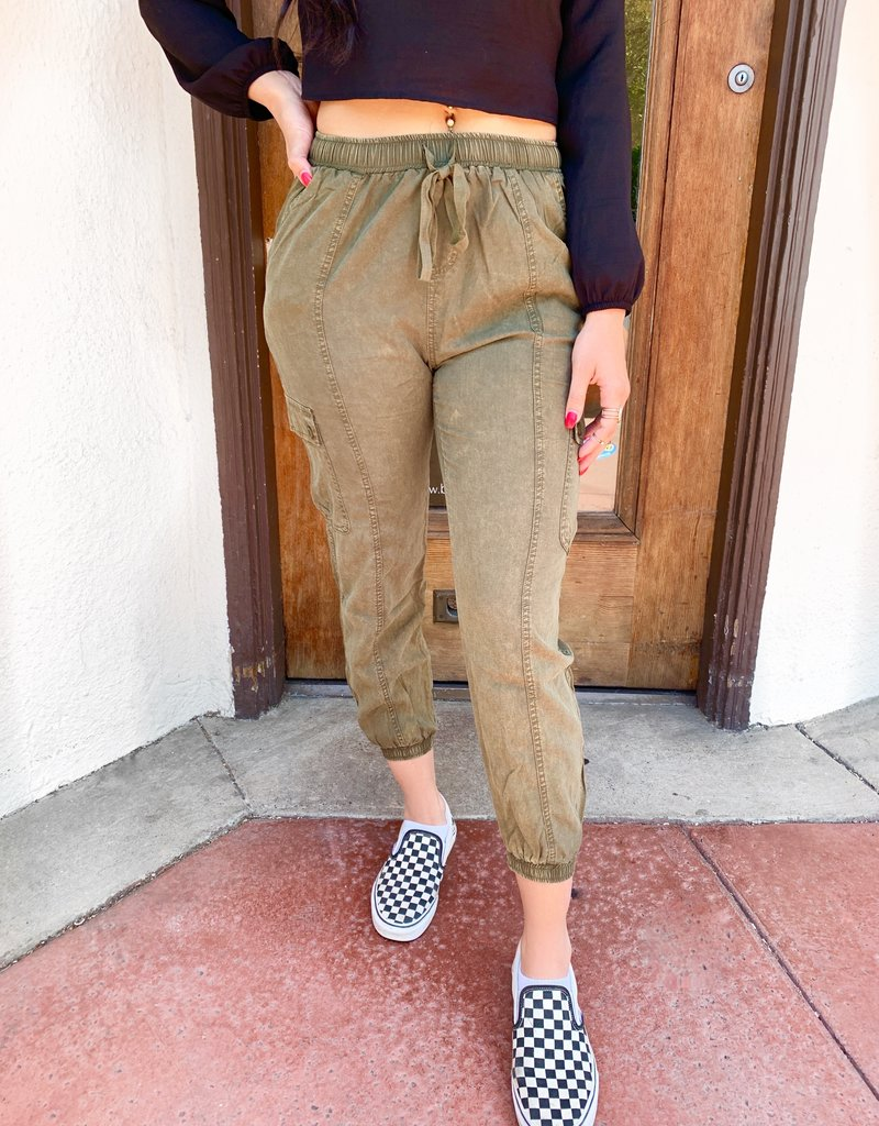 Bow N Arrow Mineral Wash Joggers