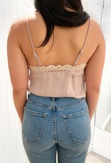 Bow N Arrow Lace Trim Chiffon Bodysuit