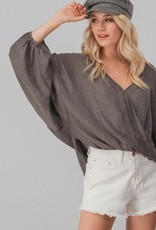 Bow N Arrow High Low Surplice Top