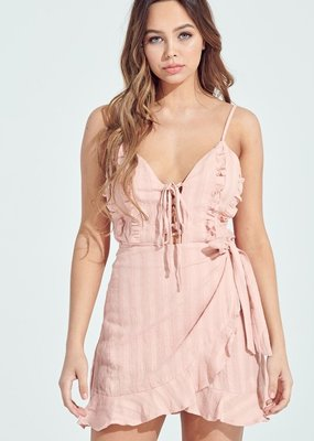 Bow N Arrow Baby Pink Ruffle Dress