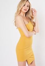 Bow N Arrow One Shoulder Mustard Dress