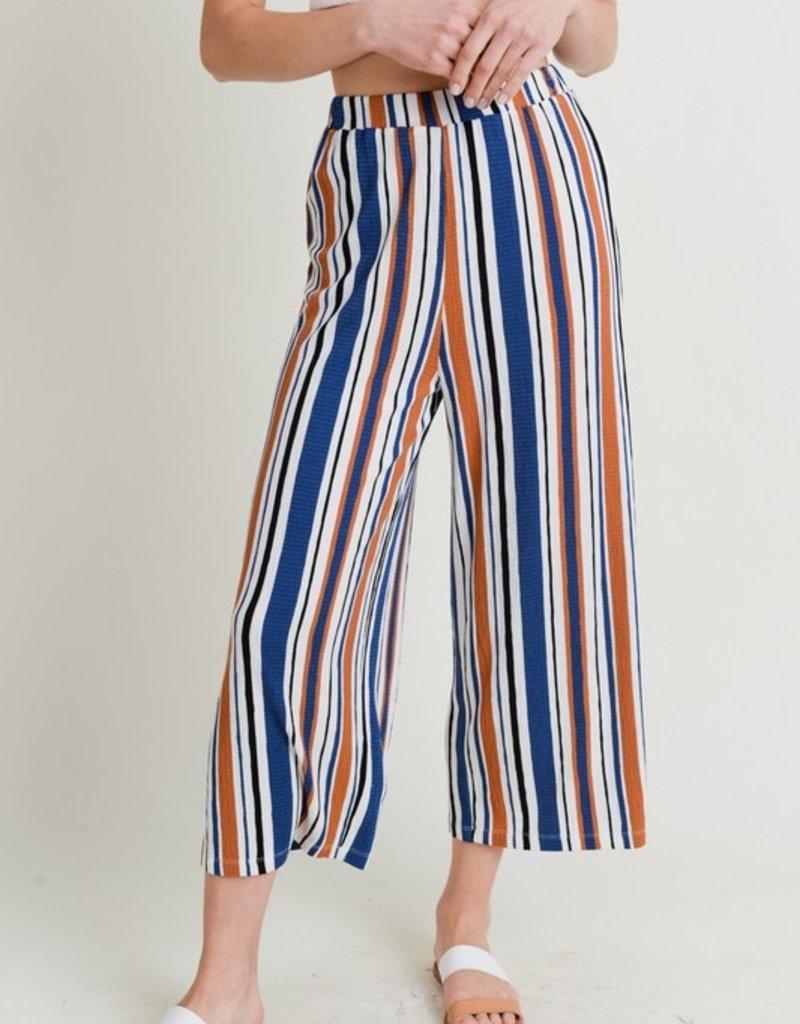 Love Tree Stripe Wide Leg Pant