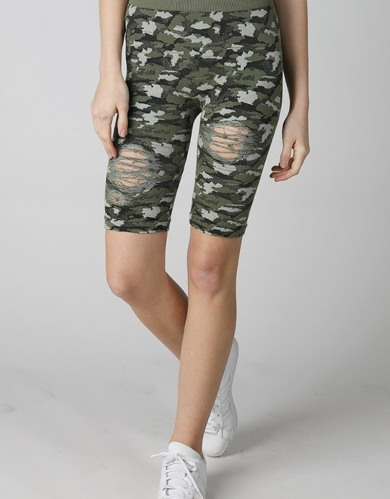 Bow N Arrow Camo Biker Shorts