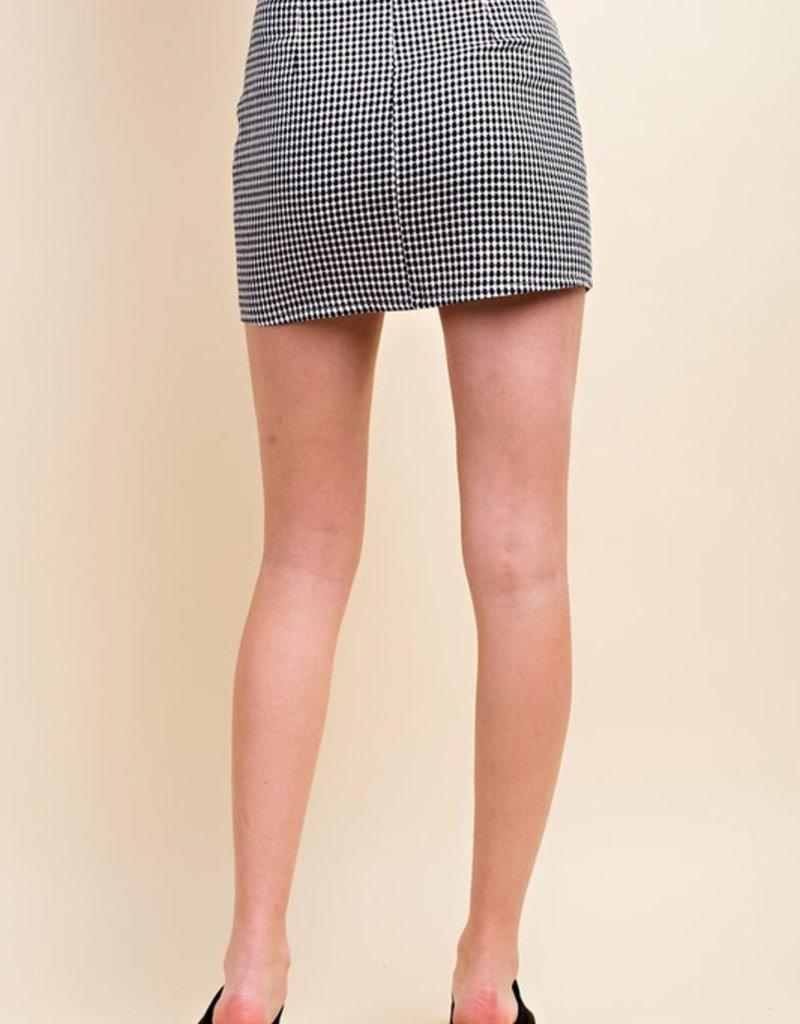 Bow N Arrow Gingham Ruched Mini Skirt