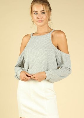 Bow N Arrow Cold Shoulder Long Sleeve Top