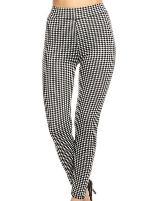 Bow N Arrow Black & White Plaid Pants