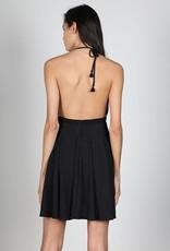 Bow N Arrow Black Medallion Halter Dress