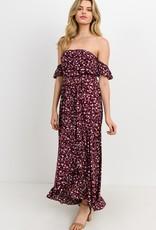 Bow N Arrow Plum Floral Maxi Dress