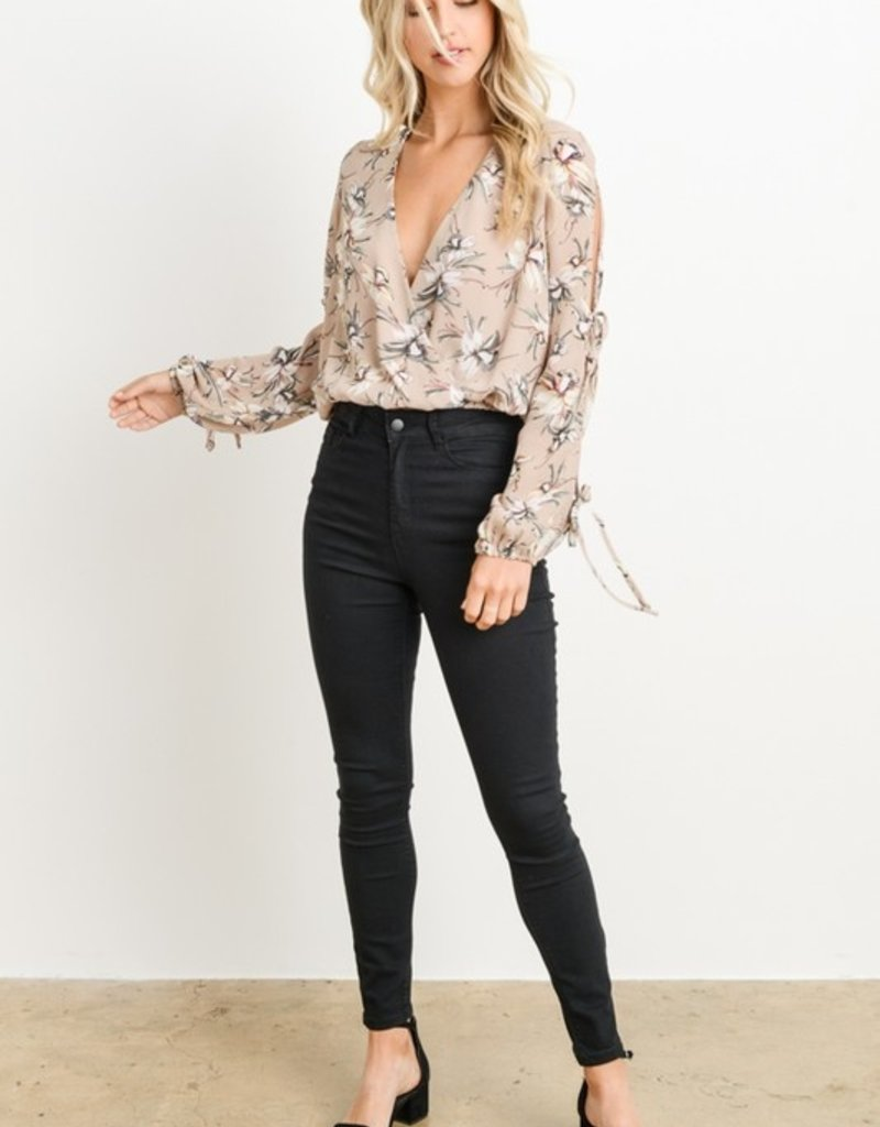 Bow N Arrow Floral Cold Shoulder Top