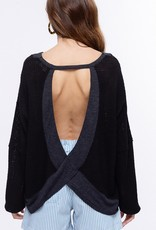 Bow N Arrow Thermal Open Back Sweater
