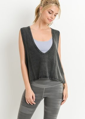 Bow N Arrow Swoop V-neck Muscle Tank