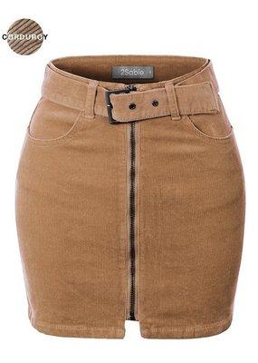 Bow N Arrow High Waisted Corduroy Skirt