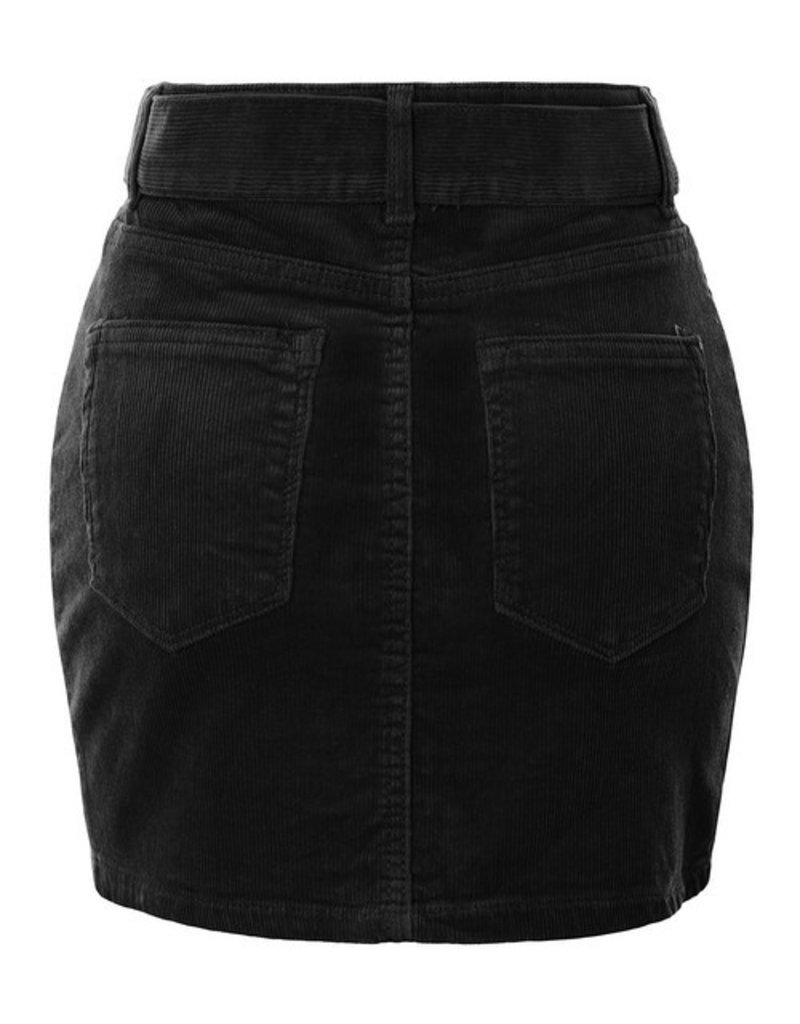 Bow N Arrow High Waisted Corduroy Skirt