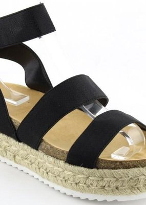 Bow N Arrow Black Strap Espadrille