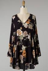 Bow N Arrow Black Flower Dress