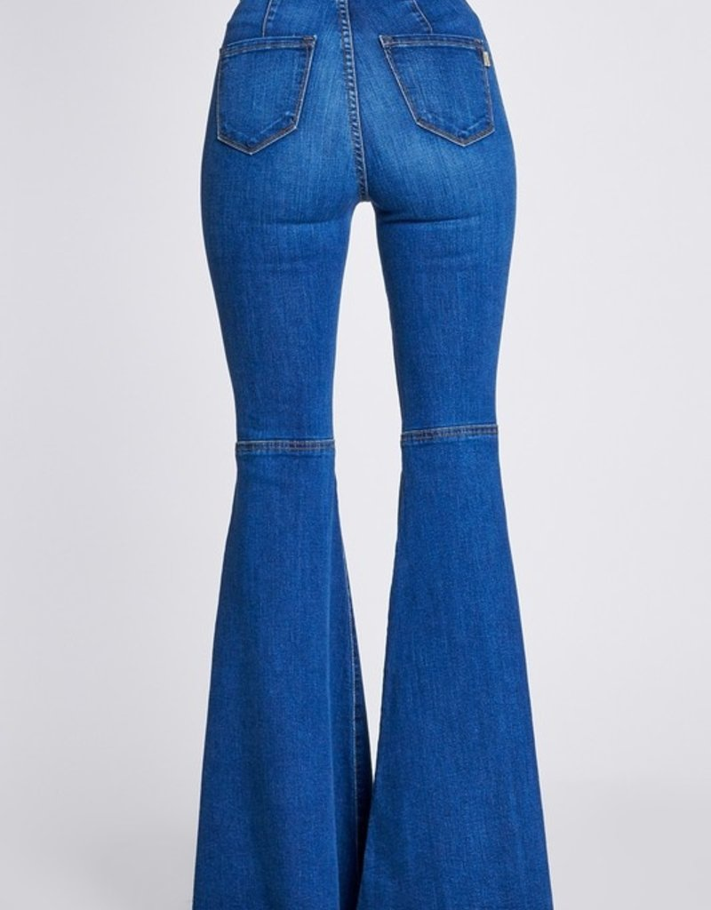 Bow N Arrow High Waisted Distressed Bell Bottoms