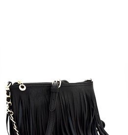 Bow N Arrow Fringe Cross Body Messenger Bag