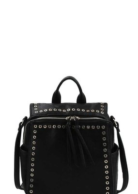 Bow N Arrow Studded Convertible Backpack