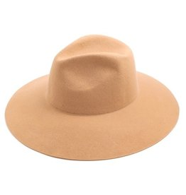 Bow N Arrow Beige Felt Hat
