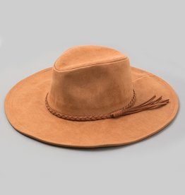Bow N Arrow Brown Suede Hat