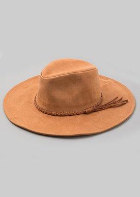 Bow N Arrow Brown Suede Hat