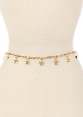 Bow N Arrow Gold Star Belt
