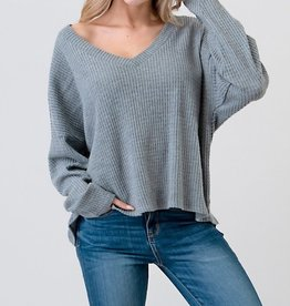 Bow N Arrow Waffle Knit Top