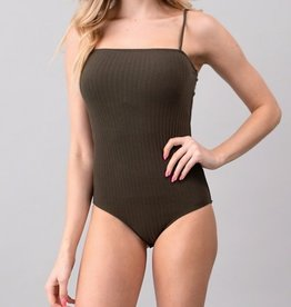 Bow N Arrow Ribbed Cami Bodysuit