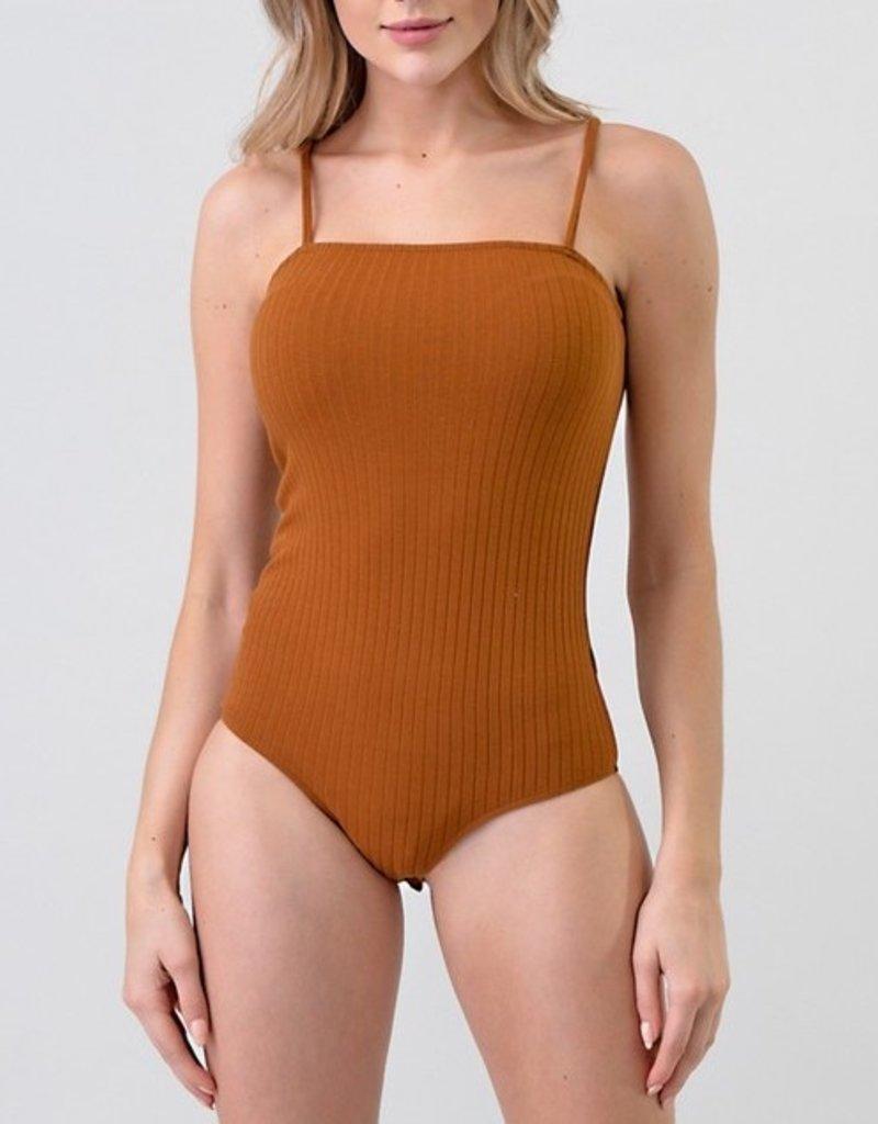 Bow N Arrow Ribbed Cami Bodysuit