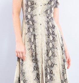 Bow N Arrow Snake Print Button Dress