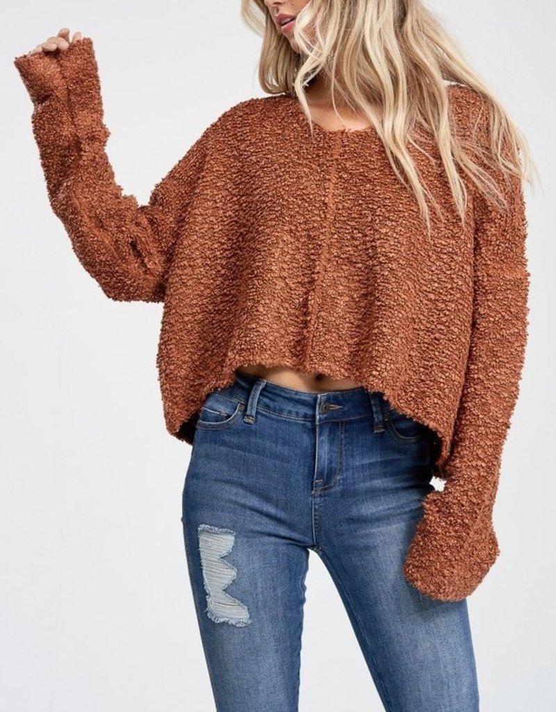 Bow N Arrow Rust Long Sleeve Sweater