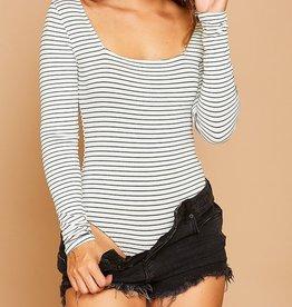Bow N Arrow Stripe Long Sleeve Bodysuit