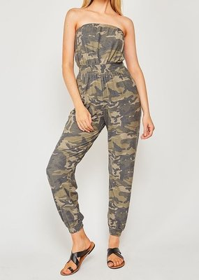 Bow N Arrow Camo Strapless Jumpsuit