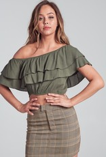 Bow N Arrow Ruffle One Shoulder Top